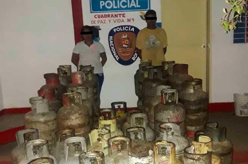 Detienen a pareja con 69 cilindros de gas en Barquisimeto - La Prensa de Lara
