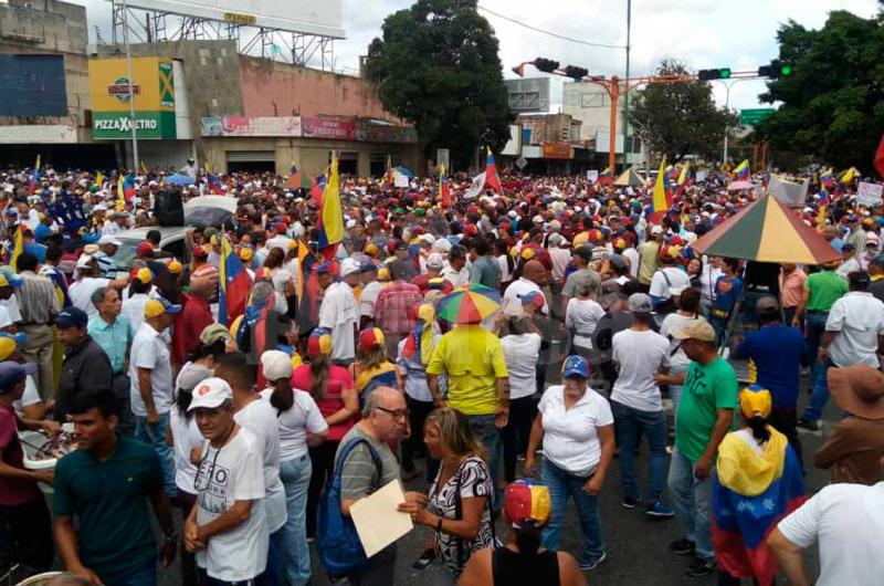 EN FOTOS: Así transcurre la marcha opositora en Barquisimeto - La Prensa de Lara