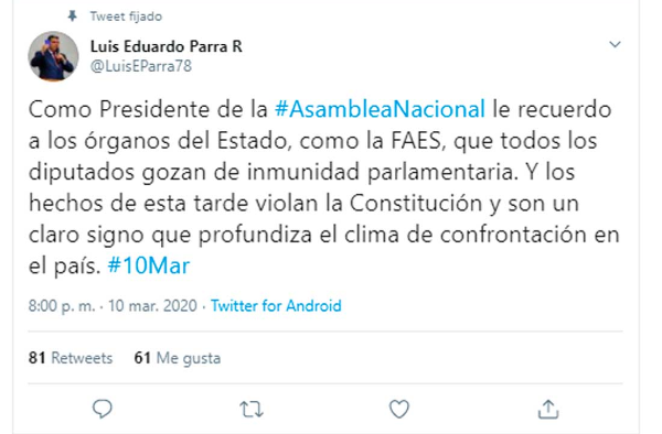 FAES irrumpe en hotel y arremete contra diputados opositores en Venzuela