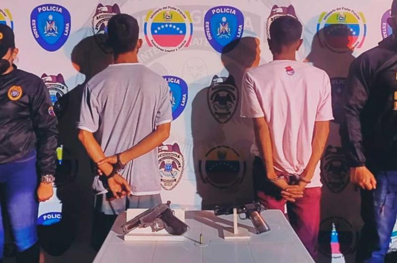 Detenidos dos sujetos por porte ilícito de arma en Barquisimeto